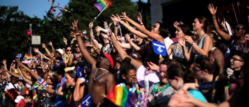 Thousands celebrate the annual LGBTQ Capital Pride parade in Washington June 10, 2017. REUTERS/James Lawler Duggan