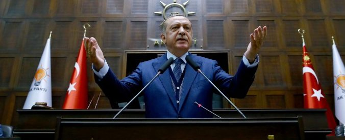 Turkish President Tayyip Erdogan addresses members of parliament from his ruling AK Party (AKP) during a meeting at the Turkish parliament in Ankara, Turkey, June 13, 2017. Kayhan Ozer/Presidential Palace/Handout via REUTERS