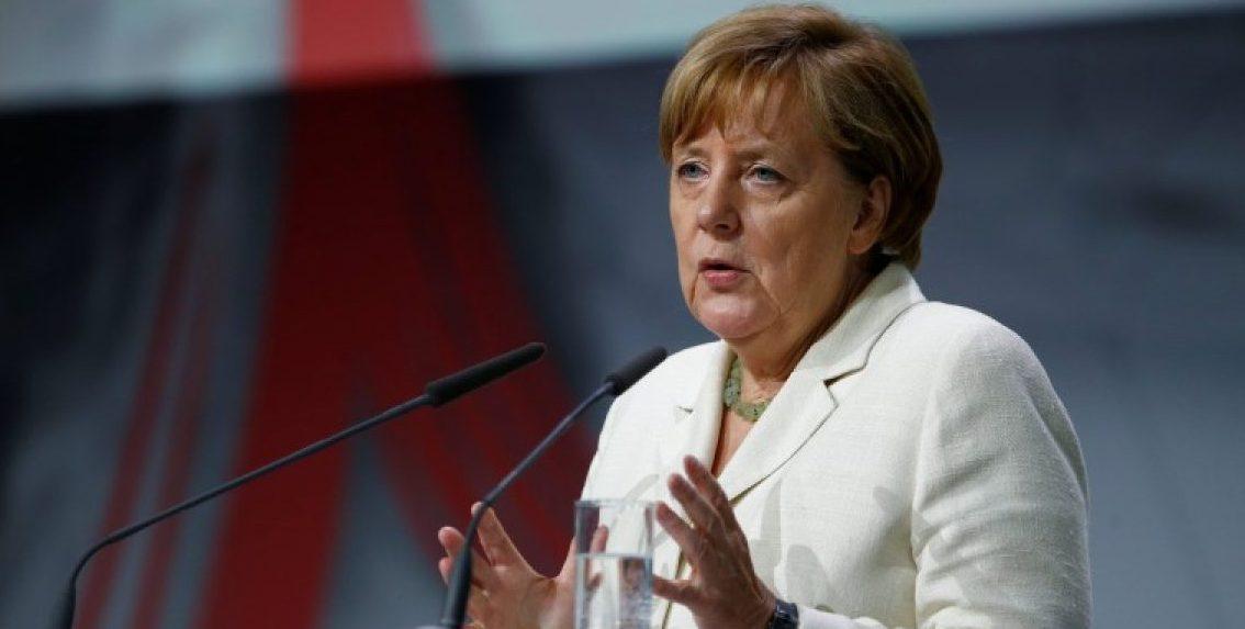 German Chancellor Angela Merkel speaks at the Digital Summit 2017 in Ludwigshafen, Germany June 13, 2017. REUTERS/Ralph Orlowski