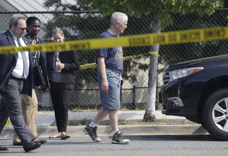 U.S. Rep. Mo Brooks (R-AL) departs a shooting scene after speaking to reporters near Washington in Alexandria, Virginia, U.S., June 14, 2017. REUTERS/Joshua Roberts
