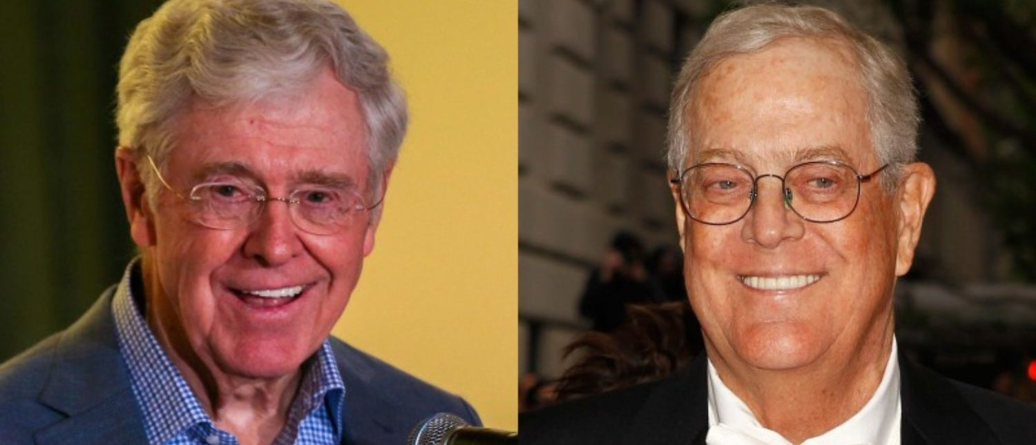 Charles Koch (L) and David Koch are pictured in this combination photo. REUTERS/Freedom Partners Chamber of Commerce/Handout/Carlo Allegri
