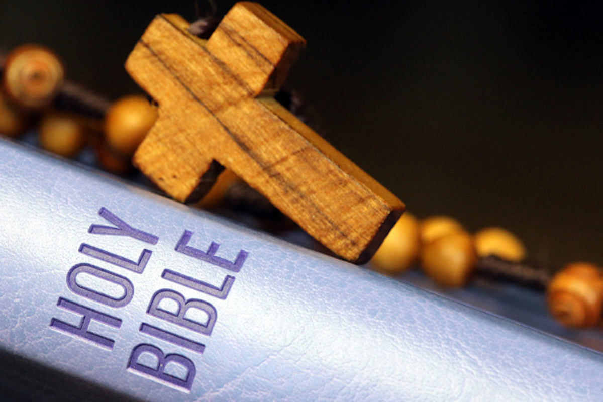 Holy Bible and Rosary. France. (Photo by: Godong/UIG via Getty Images)