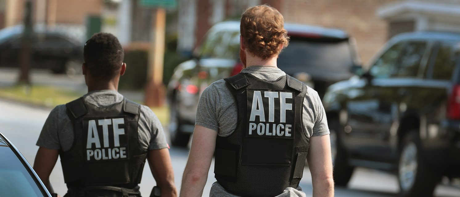 ATF police investigate a shooting that occurred on the playground at Joseph Warren Elementary School on June 16, 2017 in Chicago, Illinois. Two girls, reported to be 7 and 12-years-old, were hit by bullets fired from a passing car as they participated in an end of the school year track event on the playground. (Photo by Scott Olson/Getty Images)