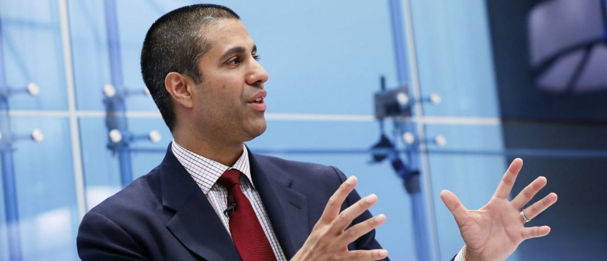 Federal Communication Commission Chairman Ajit Pai participates in a discussion about his accomplishments at The American Enterprise Institute for Public Policy Research (Chip Somodevilla/Getty Images)