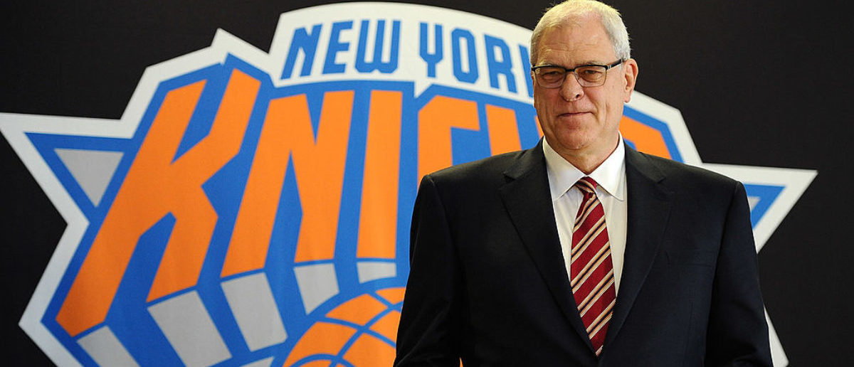 Phil Jackson stands for photos during his introductory press conference as President of the New York Knicks at Madison Square Garden on March 18, 2014 in New York City. (Photo by Maddie Meyer/Getty Images)