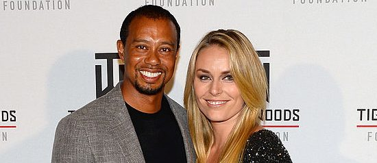 Golfer Tiger Woods (L) and ski racer Lindsey Vonn attend Tiger Jam 2014 at the Mandalay Bay Events Center on May 17, 2014 in Las Vegas, Nevada.  (Photo by Ethan Miller/Getty Images)