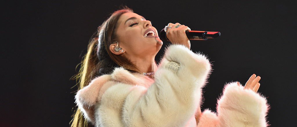Grande performs on stage at KIIS FM's Wango Tango 2016 at StubHub Center on May 14, 2016 in Carson, California. (Photo by Mike Windle/Getty Images)