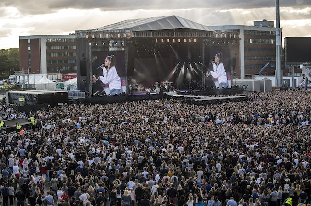 MANCHESTER, ENGLAND - JUNE 04: Ariana Grande performs during the 'One Love Manchester' benefit concert on June 4, 2017 in Manchester, England. (Photo by Danny Lawson for One Love Manchester - WPA Pool/Getty Images)