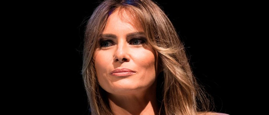 First lady Melania Trump listens while President Donald Trump speaks during Ford's Theatre's annual fundraiser June 4, 2017 in Washington, D.C.     (Photo credit : BRENDAN SMIALOWSKI/AFP/Getty Images)