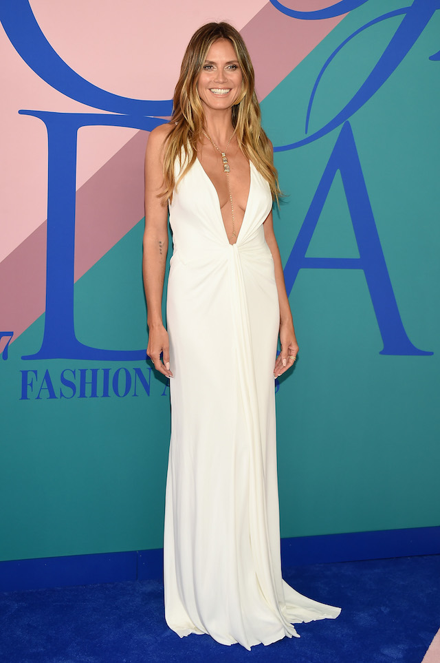 NEW YORK, NY - JUNE 05: Model Heidi Klum attends the 2017 CFDA Fashion Awards at Hammerstein Ballroom on June 5, 2017 in New York City. (Photo by Dimitrios Kambouris/Getty Images)