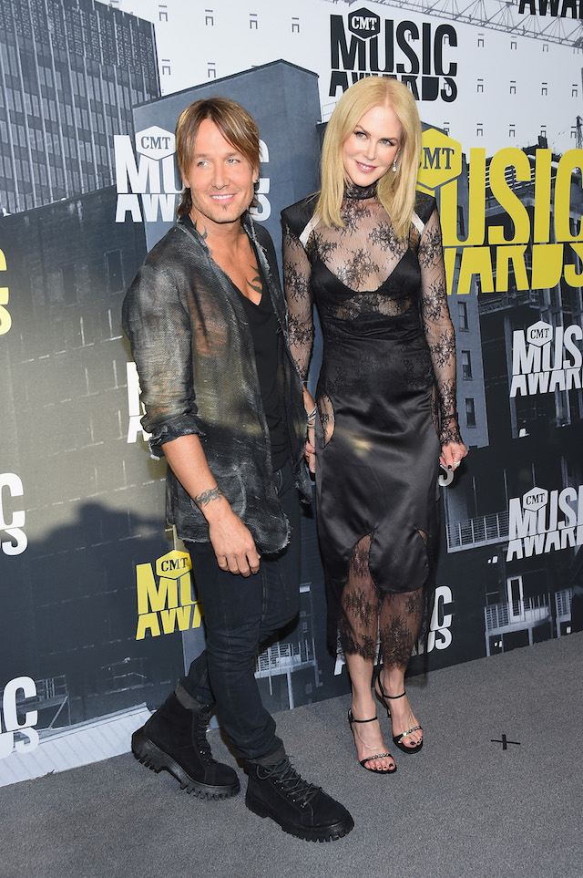 NASHVILLE, TN - JUNE 07: Singer-songwriter Keith Urban and actress Nicole Kidman attend the 2017 CMT Music Awards at the Music City Center on June 7, 2017 in Nashville, Tennessee. (Photo by Michael Loccisano/Getty Images For CMT)
