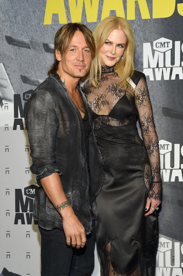 NASHVILLE, TN - JUNE 07: Musician Keith Urban and actress Nicole Kidman attend the 2017 CMT Music awards at the Music City Center on June 7, 2017 in Nashville, Tennessee. (Photo by Rick Diamond/Getty Images for CMT)