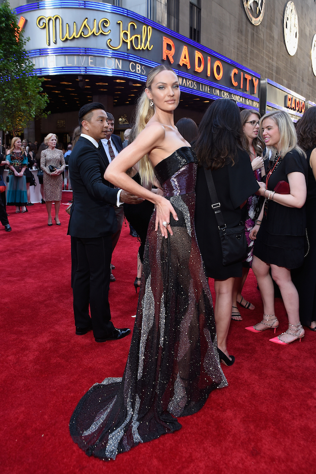 NEW YORK, NY - JUNE 11: Model Candice Swanepoel attends the 2017 Tony Awards at Radio City Music Hall on June 11, 2017 in New York City. (Photo by Jenny Anderson/Getty Images for Tony Awards Productions)