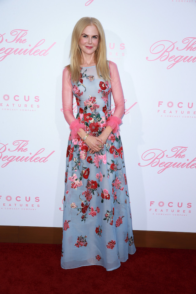 """LOS ANGELES, CA - JUNE 12: Actor Nicole Kidman attends the premiere of Focus Features' """"The Beguiled"""" at the Directors Guild of America on June 12, 2017 in Los Angeles, California. (Photo by Rich Fury/Getty Images)"""