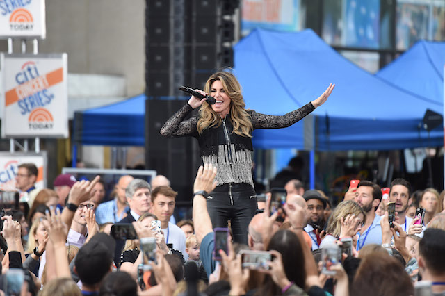 """NEW YORK, NY - JUNE 16: Shania Twain performs on NBC's """"Today"""" at Rockefeller Center on June 16, 2017 in New York City. (Photo by Nicholas Hunt/Getty Images)"""