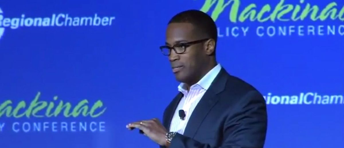 Detroit businessman John E. James. (Detroit Public TV YouTube Screenshot.)
