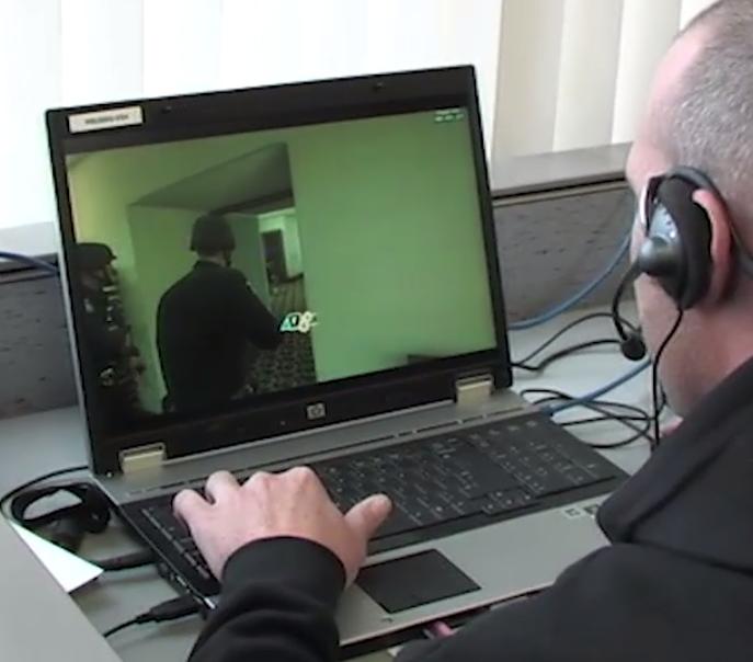Law enforcement officer plays EDGE (screenshot, DHS.gov)