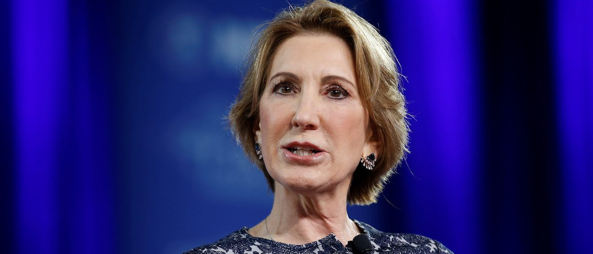 Former Republican presidential candidate Carly Fiorina speaks at the Conservative Political Action Conference (CPAC) in Oxon Hill, Maryland, U.S. February 24, 2017. REUTERS/Joshua Roberts - RTS107OY
