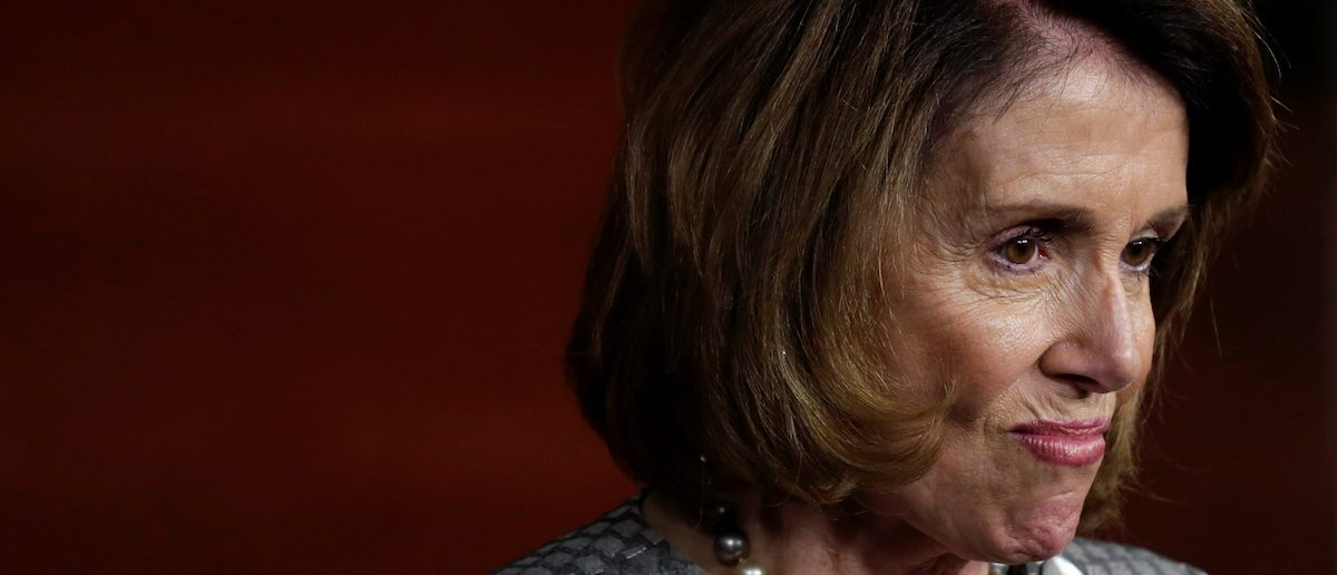 U.S. House Minority Leader Nancy Pelosi (D-CA) reacts during her news conference after the House approved a bill to repeal major parts of Obamacare and replace it with a Republican healthcare plan in Washington, U.S., May 4, 2017. REUTERS/Yuri Gripas - RTS157KR