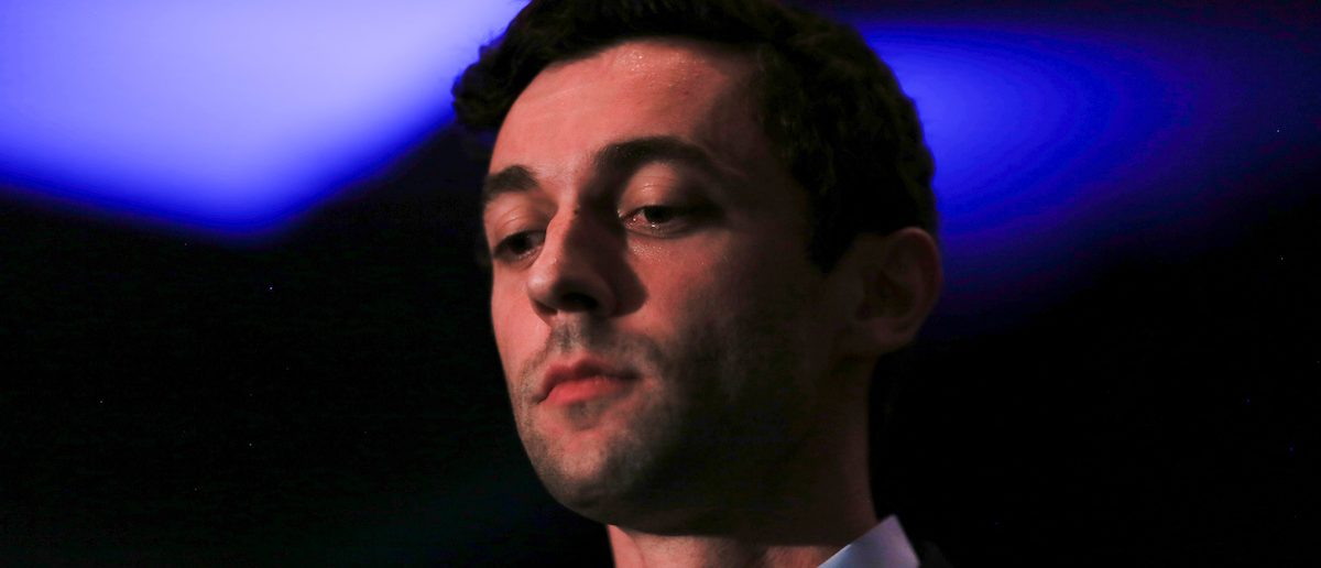 Democrat Jon Ossoff addresses his supporters after his defeat in Georgia's 6th Congressional District special election in Atlanta, Georgia, U.S., June 20, 2017.  REUTERS/Chris Aluka Berry - RTS17YAH