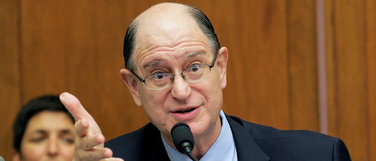 "Representative Brad Sherman (D-CA) questions Federal Reserve Chairman Janet Yellen as she delivers the semi-annual testimony on the ""Federal Reserve's Supervision and Regulation of the Financial System"" before the House Financial Services Committee in Washington, September 28, 2016. REUTERS/Joshua Roberts"