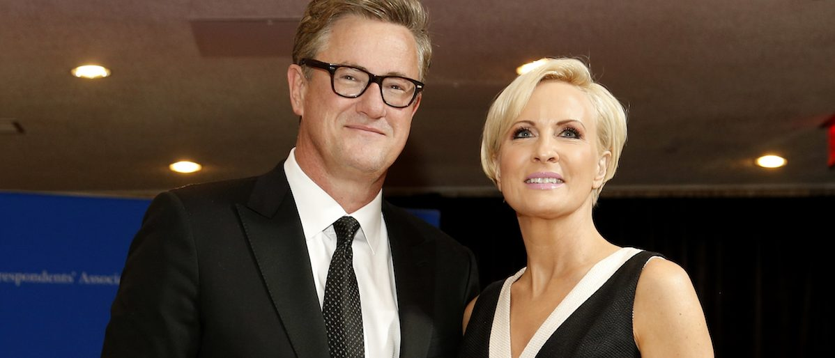 MSNBC's Joe Scarborough and Mika Brzezinski arrive for the annual White House Correspondents' Association dinner in Washington April 25, 2015. REUTERS/Jonathan Ernst - RTX1A9XH