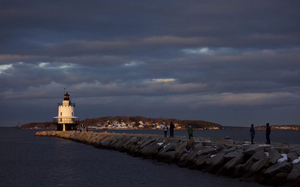 Located in Portland, Maine, the Spring Point Ledge Lighthouse's construction was completed in 1897 (REUTERS/Kevin Lamarque)