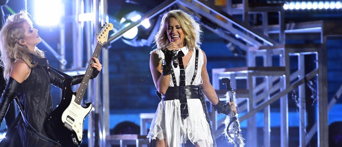 Carrie Underwood rocked the stage at the 50th annual CMA Awards as her ninth time co-hosting. (Photo: Reuters)