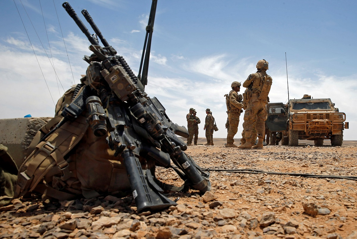 U.S. soldiers participate in the Eager Lion military exercise at the Jordan-Saudi Arabia border, south of Amman May 17, 2017. (Reuters)