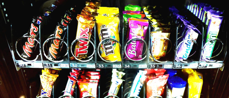 A vending machine for sweets (Photo: REUTERS/Kai Pfaffenbach)