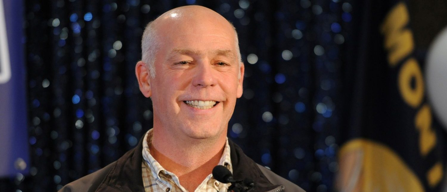 Representative elect Greg Gianforte accepts the crowds congratulations during his victory speech after winning the special congressional election in Bozeman, Montana May 25, 2017, during a special congressional election called after former Rep. Ryan Zinke was appointed to lead the Interior Department. (Photo: REUTERS/Colter Peterson)
