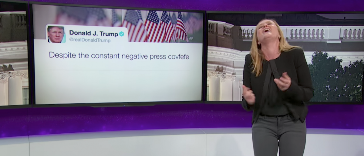Covfefe, Kushner & An Idiot Abroad, May 31, 2017 Pt. 1, Full Frontal on TBS [YouTube/Screenshot/Public - User: Full Frontal with Samantha Bee]