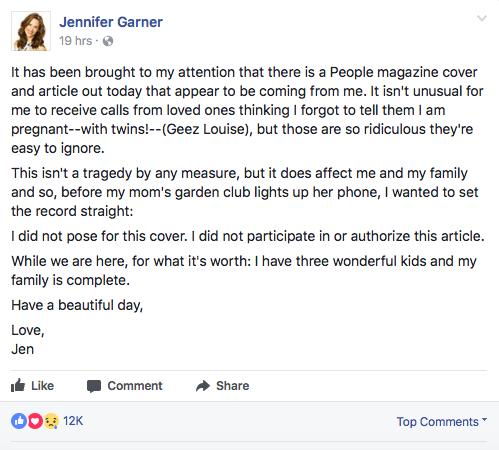 Jennifer Garner (photo: Facebook Screenshot)
