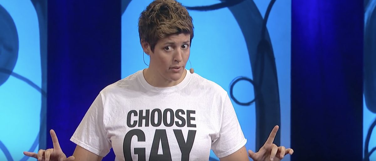 Sally Kohn gives a TED Talk [Screenshot/YouTube]