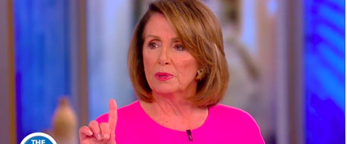 Nancy Pelosi on The View (photo by: YouTube Screenshot)