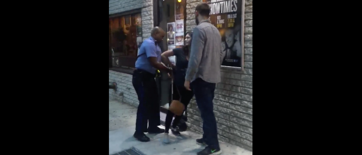 Helium Comedy Club - Philadelphia.  Reporter goes on a profanity-laced tirade criticizing a polite police officer and law enforcement in general.  [Facebook/Screenshot/Public - User: Wil Sylvince]