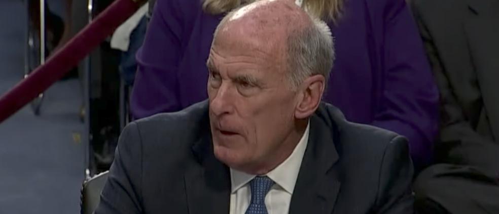 Director of National Intelligence Dan Coats, testifying at Senate Intelligence Committee, June 7, 2017. (Youtube screen grab)