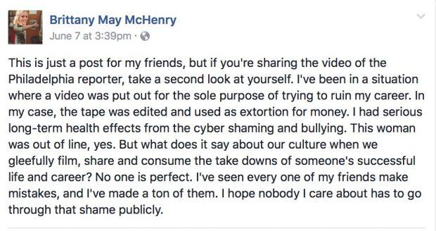 Britt McHenry Facebook post (Credit: Screenshot/Facebook)