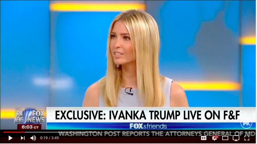 Ivanka Trump (photo by:YouTube Screenshot)