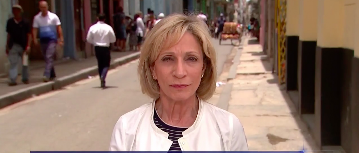 Screen Shot Andrea Mitchell Visits Cuba (NBC: June 15, 2017)