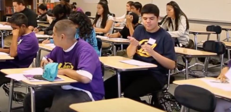 Students in a classroom. (YouTube screenshot/Agape Management)