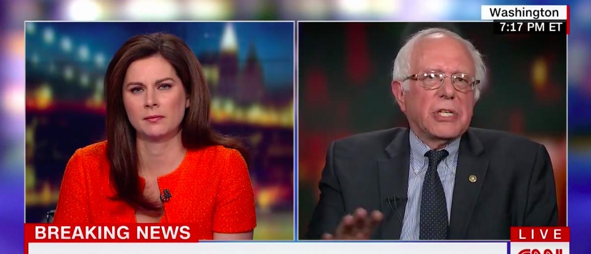 Screen Shot Bernie Sanders On Wife's FBI Investigation (CNN: June 27, 2017)