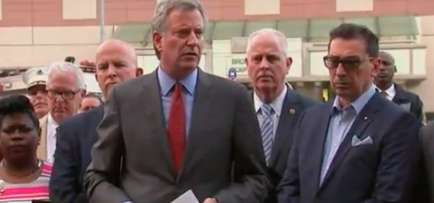 DeBlasio Bronx Lebanon Shooting Press Conference Youtube screen shot/PBS News Hour