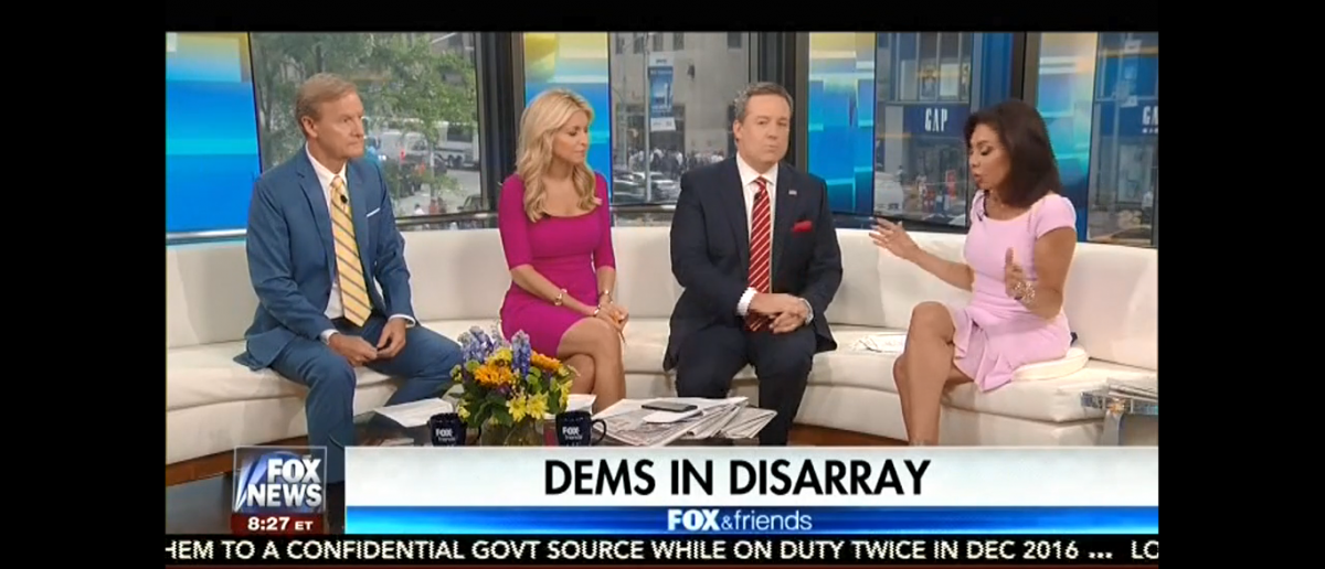 Judge Jeanine On Fox and Friends/Screenshot/Tveyes