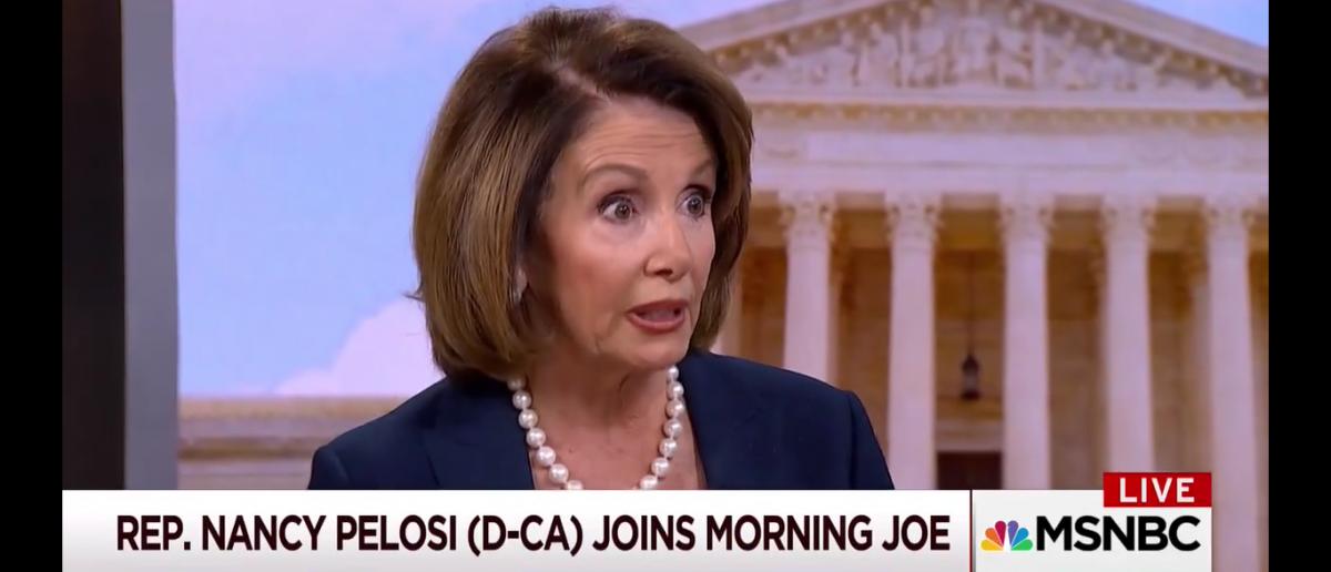 Nancy Pelosi On Morning Joe/Screenshot/TVeyes