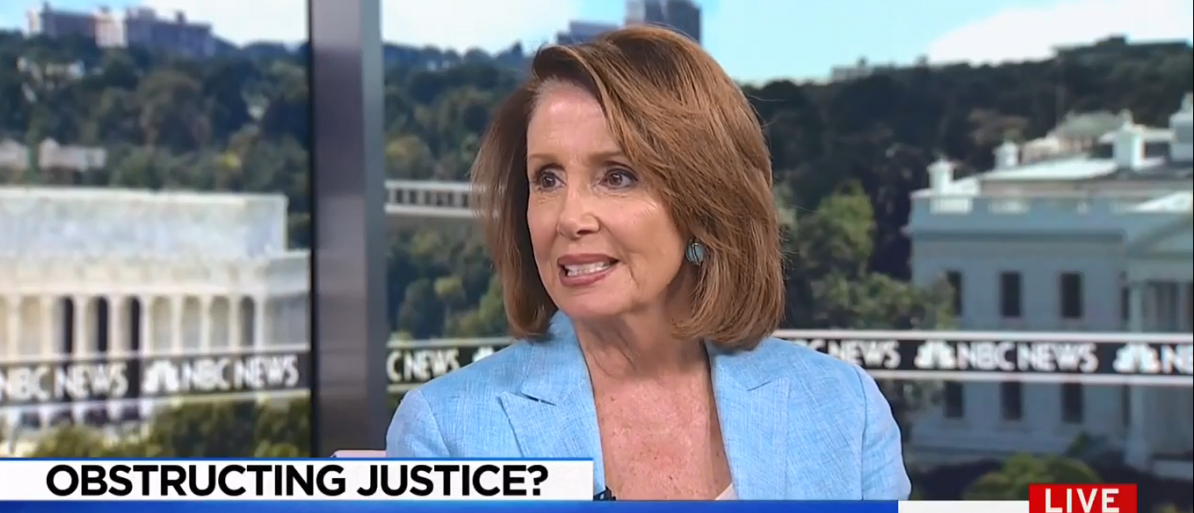 Pelosi MSNBC interview/Screenshot/TVeyes