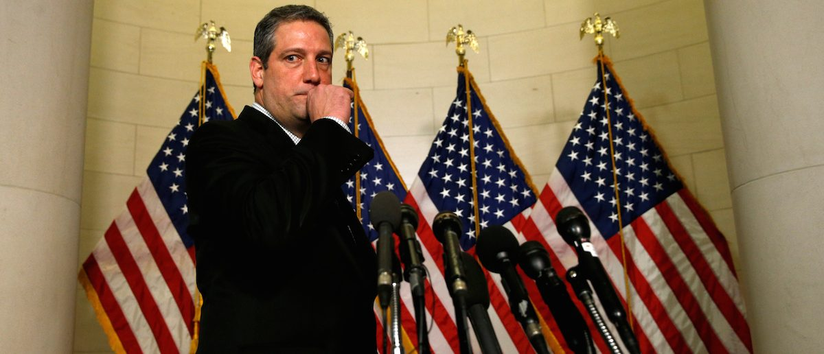 U.S. Representative Tim Ryan (D-OH) arrives to speak to reporters after losing his challenge to House Democratic Leader Nancy Pelosi in the House Democratic leadership election on Capitol Hill in Washington, November 30, 2016. REUTERS/Kevin Lamarque