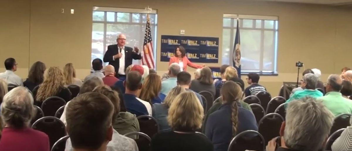 Minnesota Democratic Rep. and gubernatorial candidate Tim Walz. (YouTube screenshot)