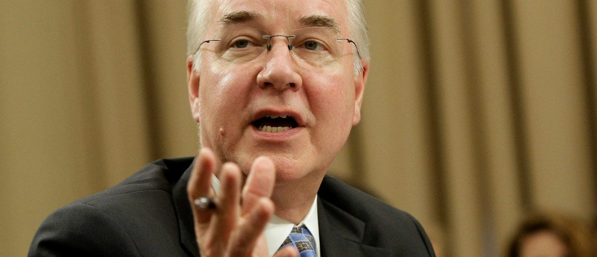 Secretary of Health and Human Services Tom Price testifies on Fiscal Year 2018 Budget Blueprint before the Committee on Appropriations at the U.S. Capitol in Washington, U.S., March 29, 2017. REUTERS/Joshua Roberts