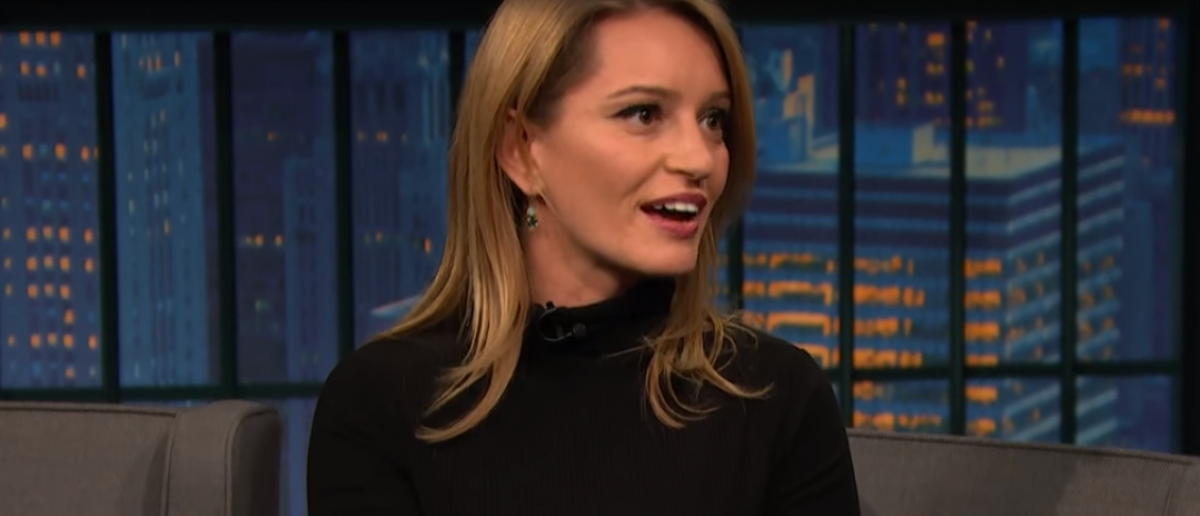 Katy Tur On Late Night With Seth Meyer/ YouTube Screenshot